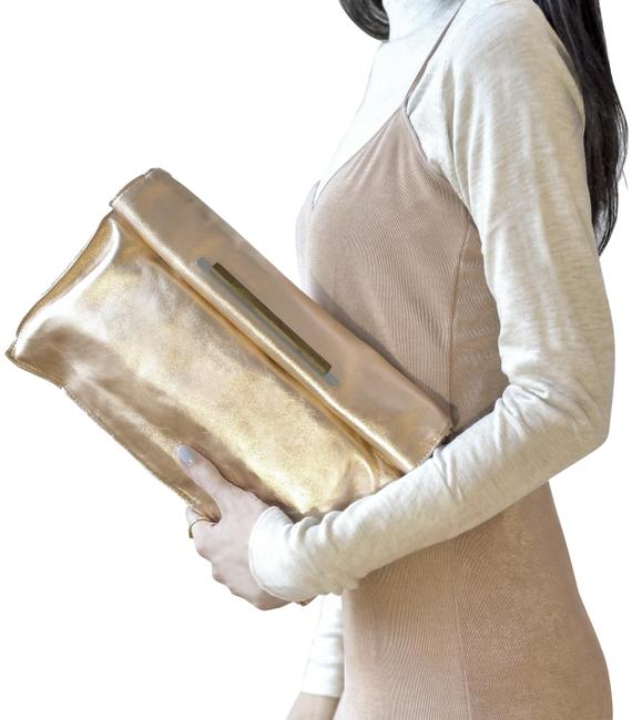 Item - The Courchevel - Rose Gold Leather Clutch