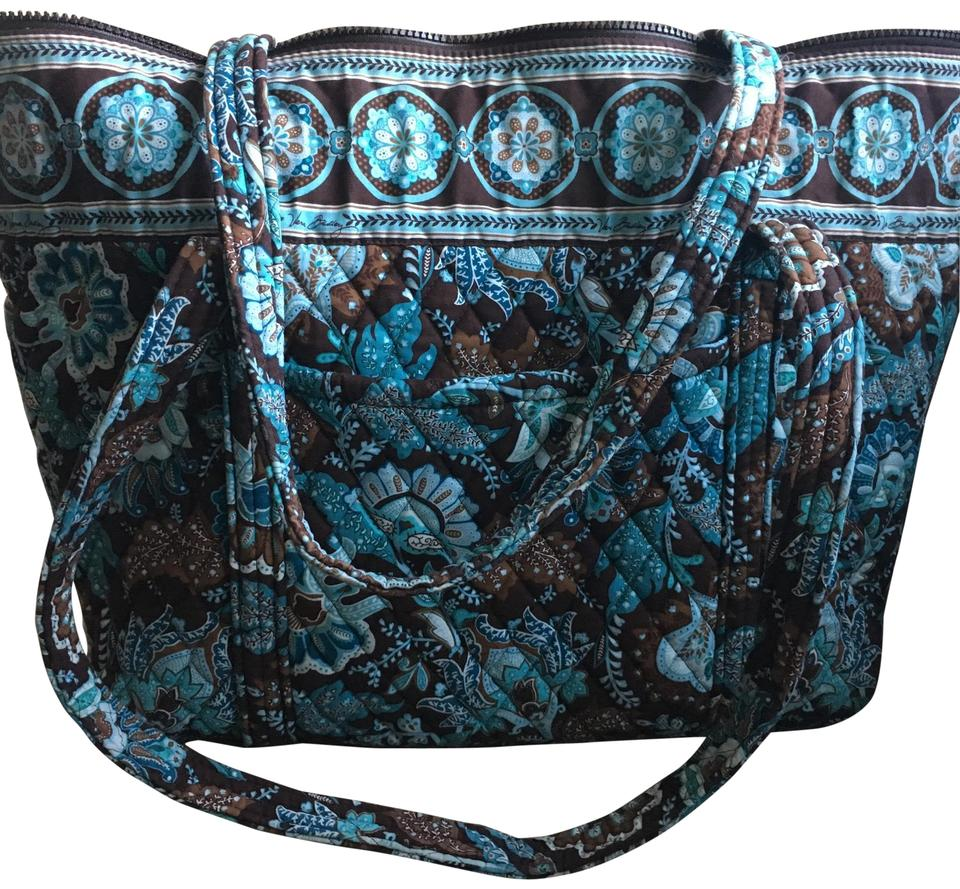 Vera Bradley Iconic Large Miller Java Blue Quilted Tote - Tradesy 86506b6681ebf