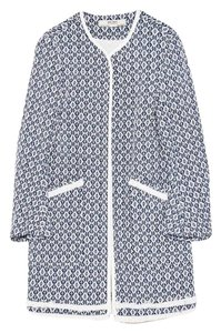 Zara Thatcoat Pattern Printed Blue/White Jacket