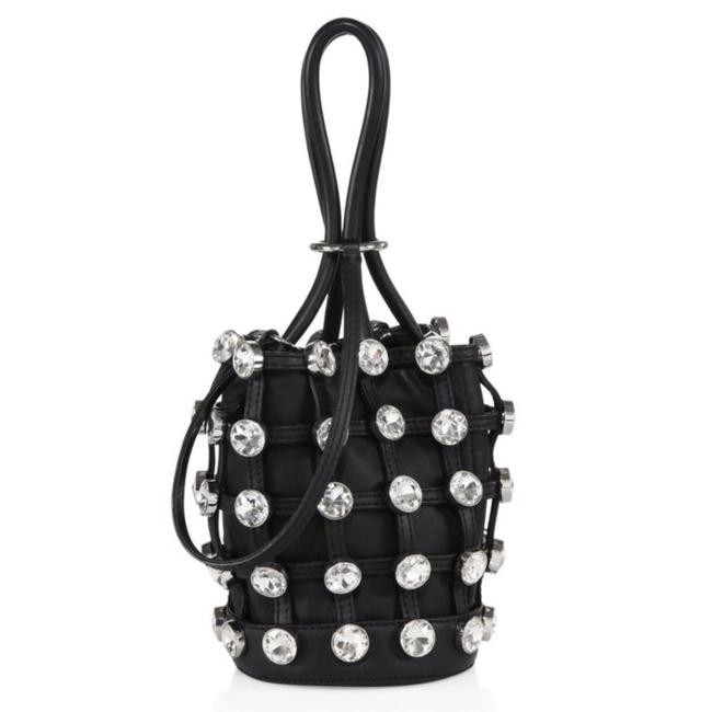 Item - Bucket Bag Roxy Mini In with Glass Stones Black Leather Tote