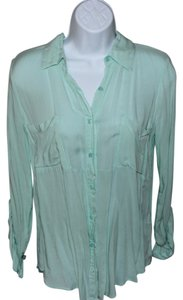Splendid Button Down Shirt Mint