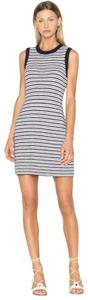 Rag & Bone short dress Navy and White with Grey Brunch Comfortable Striped Knit on Tradesy