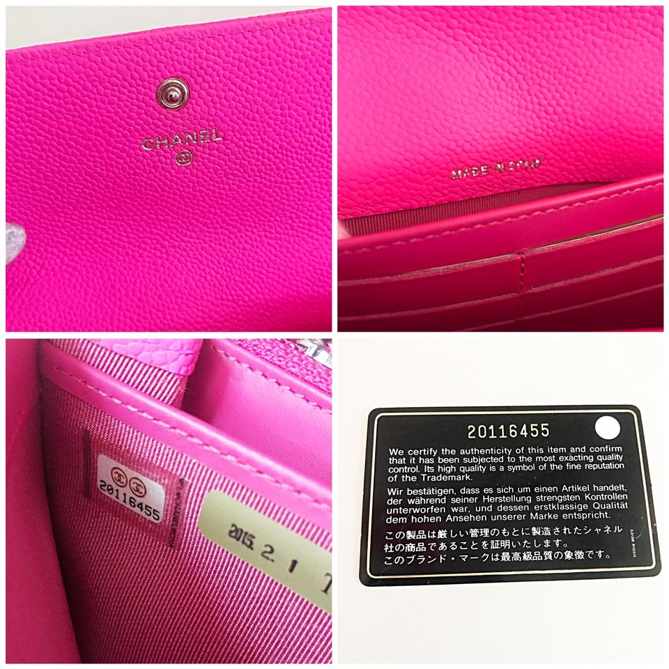 420969b7c301 Chanel Classic Flap Wallet *with Chain Added* Pink Leather Clutch ...