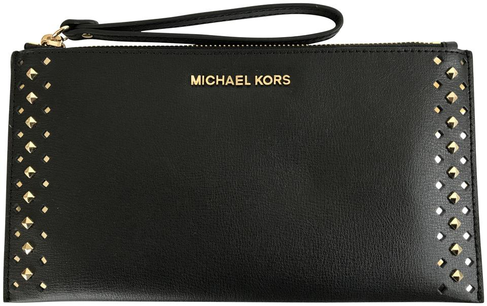 7a49008a2a MICHAEL Michael Kors Jet Set Travel Studded Large Black Leather ...