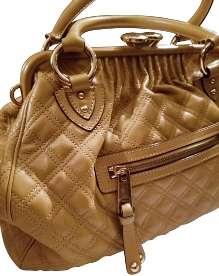 87fb808f7018 ... Marc Jacobs Leather Gold Hardware Large Stam Satchel in Tan Image 1