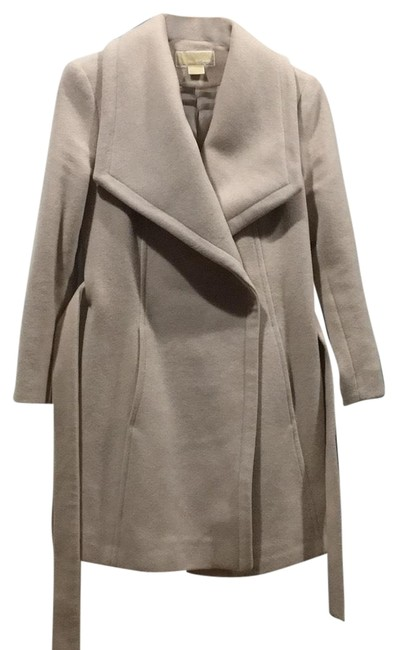 Item - Beige Cream Large Lapel Wool Coat Size 4 (S)