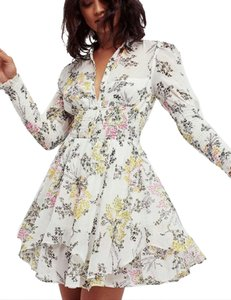 Free People short dress Longsleeve Floral Print A-line on Tradesy
