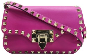 Valentino Rockstud Crossbody Leather Shoulder Bag