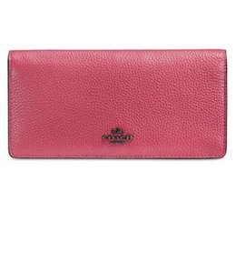 Coach Coach 53684 Madison Exotic Python Embossed Leather Skinny Wallet 57872