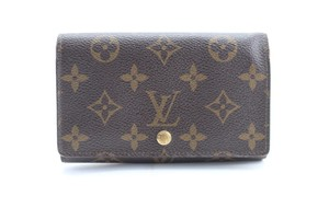 Louis Vuitton Compact Billets Porte Snap Bifold Brown Clutch