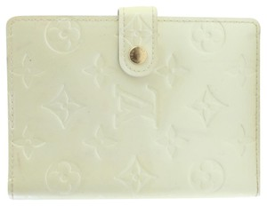 Louis Vuitton Notebook Diary Address Book Cover Wallet Ivory Perle Clutch