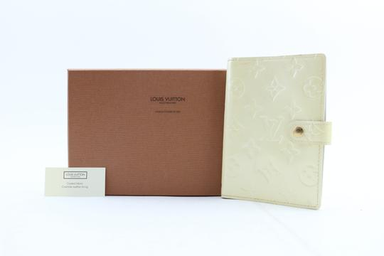 Louis Vuitton Notebook Diary Address Book Cover Wallet Ivory Perle Clutch Image 1
