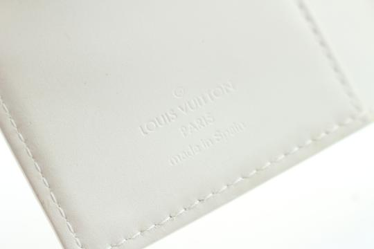 Louis Vuitton Notebook Diary Address Book Cover Wallet Ivory Perle Clutch Image 4