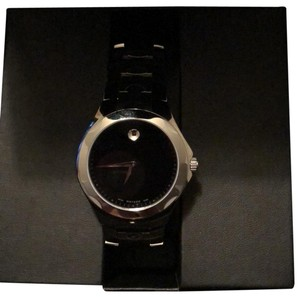 Movado Men's Movado Luno Stainless Steel Watch with Black Dial