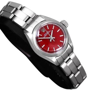 Rolex 1979 Rolex Oyster Perpetual Ladies Vintage Watch with Berry Red Dial,