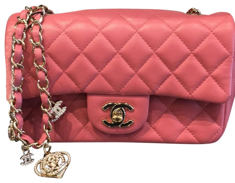 1d1369ed22cd Chanel Classic Flap Like New Quilted Charms 4001 Pink Lambskin ...