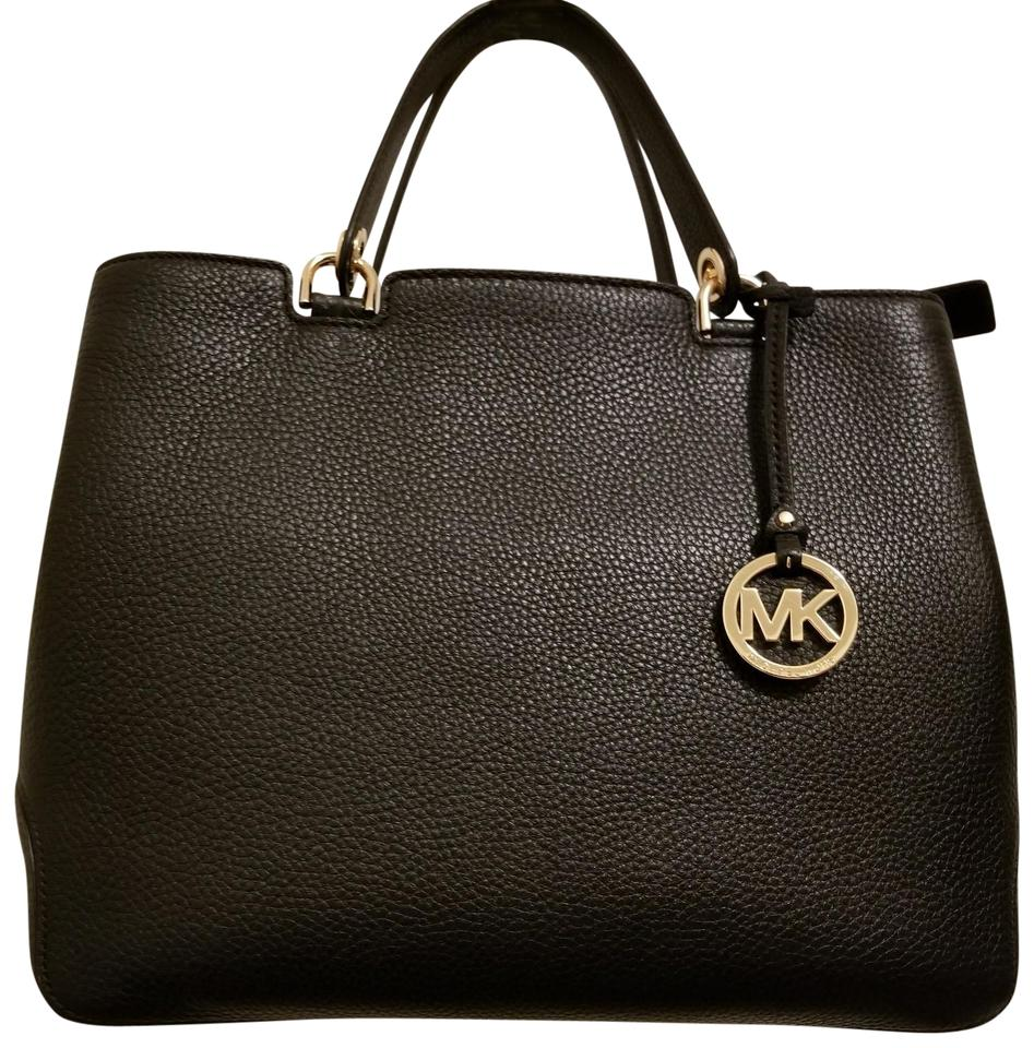 0143ece93b5d Michael Kors Large Top Zip Anabelle Black Leather Tote - Tradesy