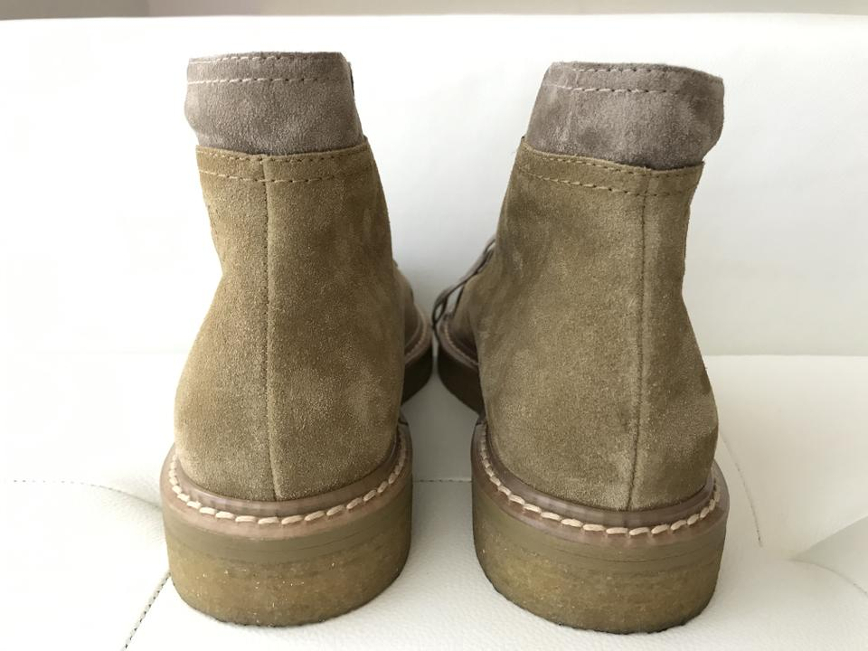 831f37e28c8cd Chanel Beige Dark Brown Cap Toe Suede Lace Up Ankle Combat Boots/Booties  Size EU 38 (Approx. US 8) Regular (M, B) - Tradesy