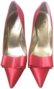 Kate Spade Satin Leather Bows Red Pumps