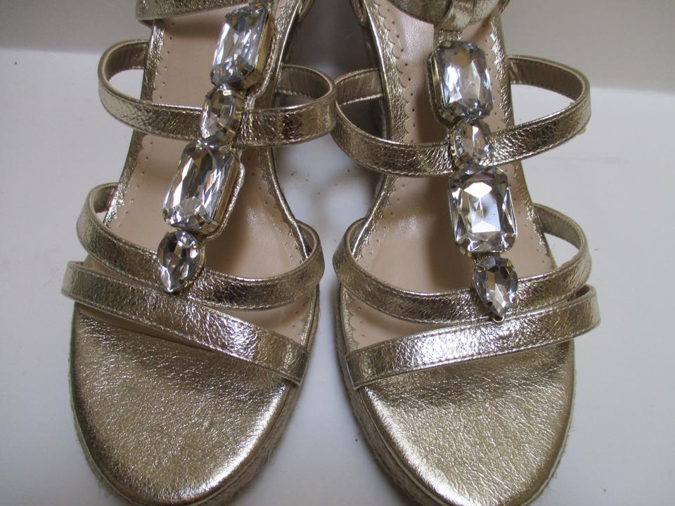 66893b5e5 Kelly   Katie Gold Rachel Metallic Strappy Wedge Sandals Size US 7.5 ...
