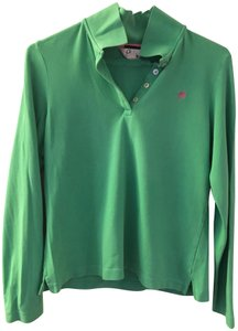 Lilly Pulitzer Polo Vintage Palm Tree Golf T Shirt Green