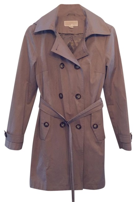 Item - Camel Double-breasted Trench Coat Size 6 (S)