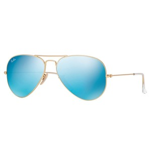 Ray-Ban New Ray Ban Unisex Sunglasses RB3025 112/17 Gold Frame Blue Flash Lens