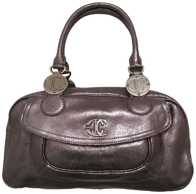 Item - New Metallic Crackled Doctors Gray Silver Leather Satchel