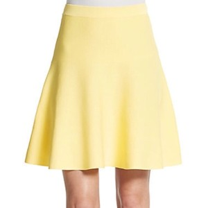 Romeo & Juliet Couture Jersey Pencil Pastel Skirt Yellow