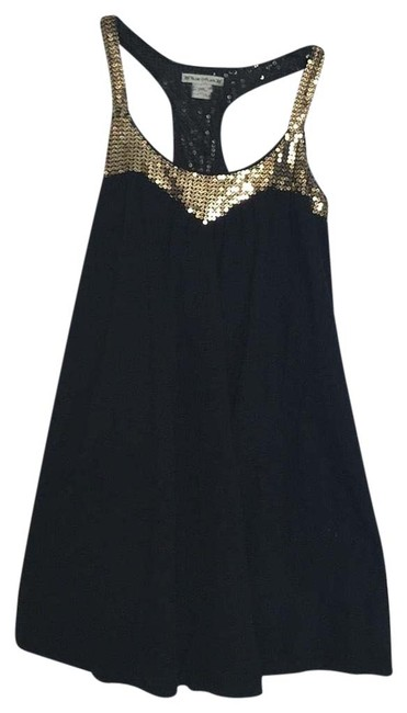 Item - Black with Gold Sequins Short Cocktail Dress Size 6 (S)