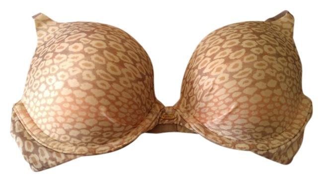 Item - Beige Multi Leopard Print Fabulous Push Up 32c Bikini Top Size 4 (S)