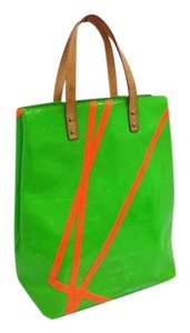 Louis Vuitton Neverfull Rare Limited Damier Ebene Tote in Lime Green Monogram