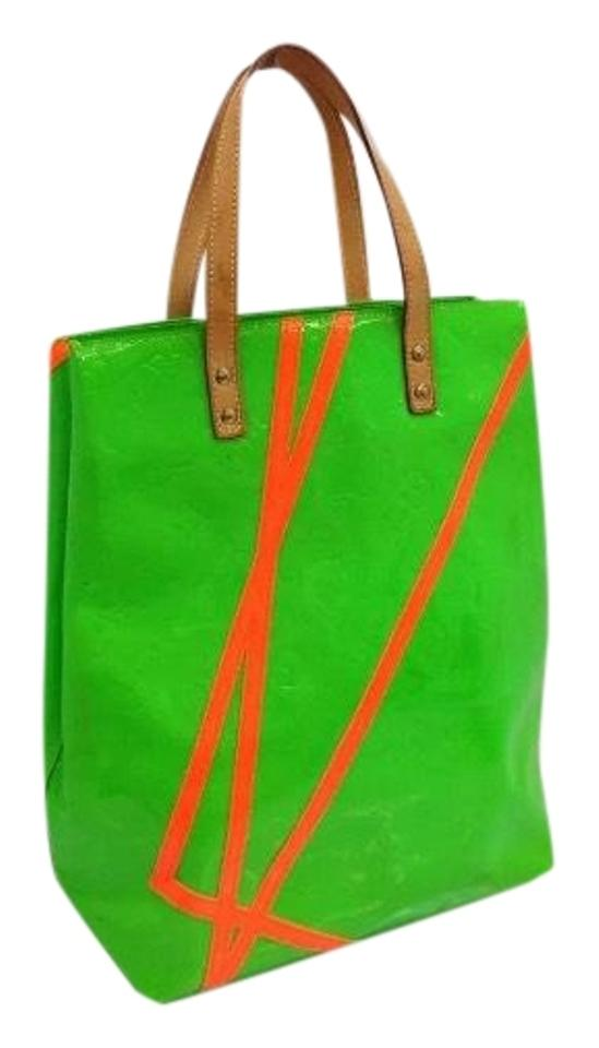 2c09276ff712 Louis Vuitton Neverfull Rare Limited Damier Ebene Tote in Lime Green  Monogram Image 0 ...