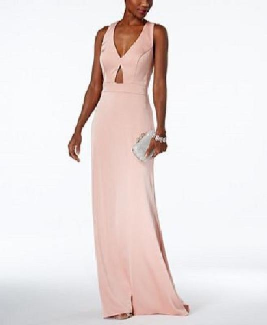 fb544586 Xscape Blush Cutout Gown Long Formal Dress Size 6 (S) - Tradesy