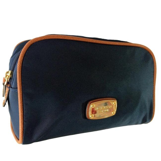 Item - Navy Abbey Large Travel Pouch Cosmetic Bag