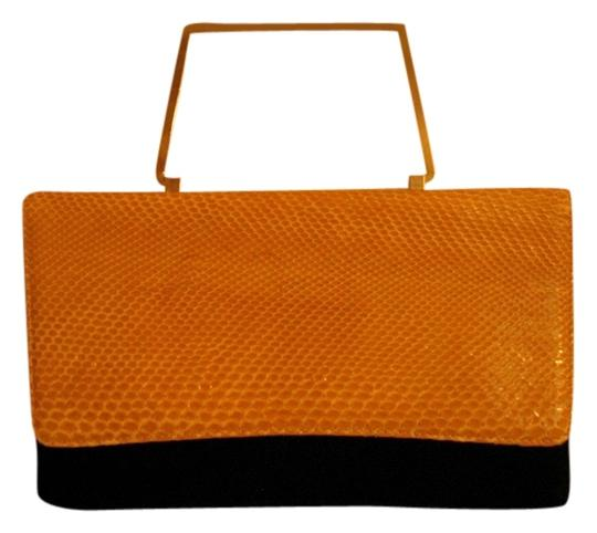 Valleverde Snakeskin Vintage Yellow Clutch