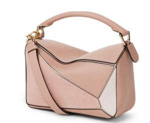 Loewe Puzzle Calfskin Leather Satchel in Blush Multitone
