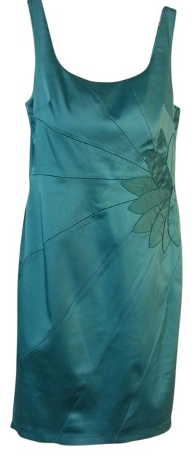 Suzi Chin for Maggy Boutique Bridesmaid Satin Cocktail Strappy Kneelength Dress