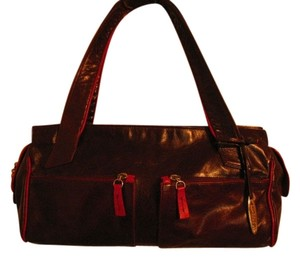 Petusco Leather Egglant Shoulder Bag