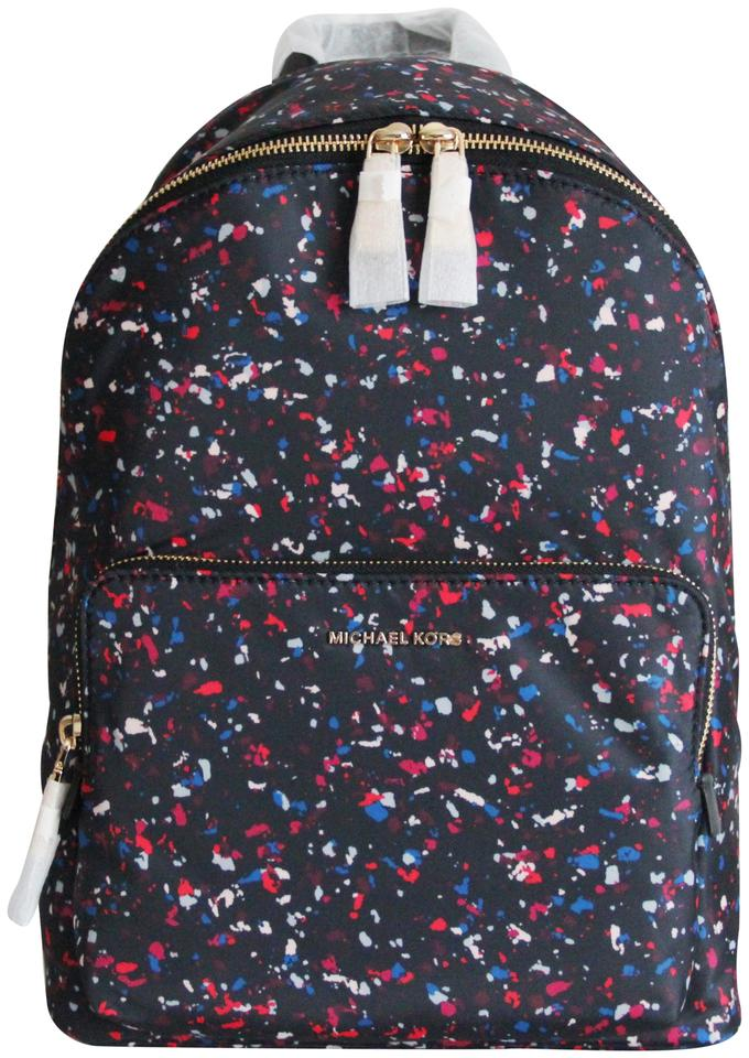 080516e6423b Michael Kors Wythe Large Black with Multicolored Speckles Nylon Backpack
