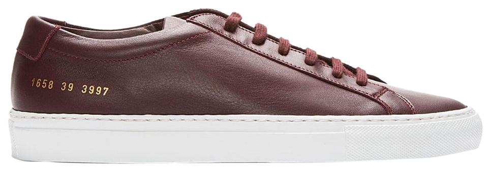 f2d0ded102c5 Common Projects Burgundy Leather Sneakers Sneakers. Size  EU 39 ...