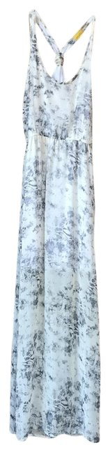 Item - Cream with Black/Grey D9596-1ch Cut#nd2100 Long Casual Maxi Dress Size 4 (S)