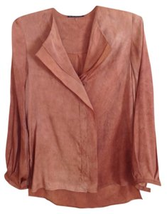 Elie Tahari Top Rust Orange