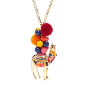 Kate Spade spice things up colorful camel long necklace