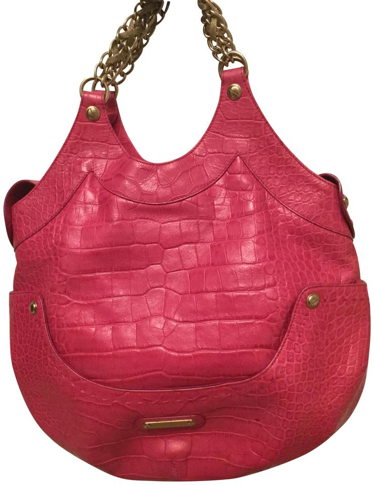 7fa25409ee70 Versace Collection Limited Edition Crocodile Texture Metallic Pink ...