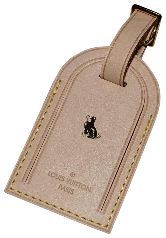 a12ce9dff3b8 Louis Vuitton BRAND NEW Vachetta Luggage Tag w Year of the Dog Heat Stamp  Image 0 ...