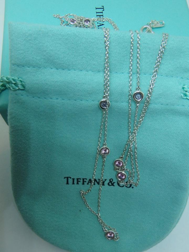 2e61878f356f8 Tiffany & Co. Sterling Silver and Pink Sapphire Elsa Peretti Color By The  Yard S Sprinkle Necklace 43% off retail