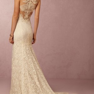 BHLDN Ivory/Creme Lace Petra Gown Vintage Wedding Dress Size 2 (XS)