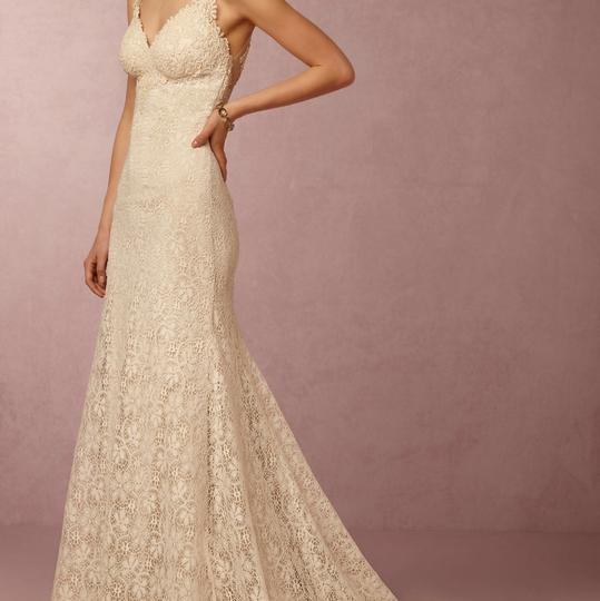 BHLDN Ivory/Creme Lace Petra Gown Vintage Wedding Dress Size 2 (XS) Image 1