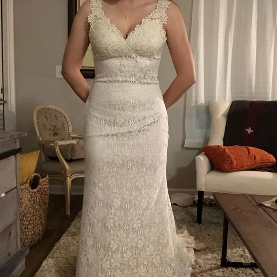 BHLDN Ivory/Creme Lace Petra Gown Vintage Wedding Dress Size 2 (XS) Image 4